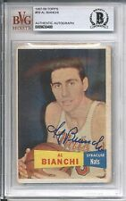 1957-58 Topps AL BIANCHI #59 Rookie Autograph BGS Authentic Signed Auto RC