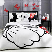 NEW Bedding Set Disney Mickey Mouse Duvet Cover Love Bedroom Twin Full Queen.
