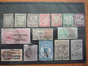 France - Lot of early fiscal Stamps 1885 onvard used