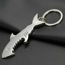 Shark Bottle Opener With Keyring Key Chain Portable Novelty Accessory Easy Open