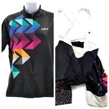 Louise Garneau Mens XL Half Zip Cycling Jersey Shirt Black & Singlet Shorts  CA