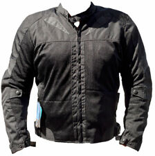 BLACK ASH BA11 MENS MOTORCYCLE TEXTILE MESH ARMOR JACKET BLACK X LARGE