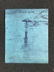 Peace Now! Original Emerson 1968 Vietnam Protest Poster JFK