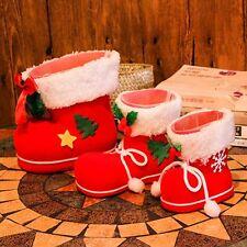 Xmas Santa Boot Shoes Stocking Christmas Tree Decoration Hanging Candy Gift Bag