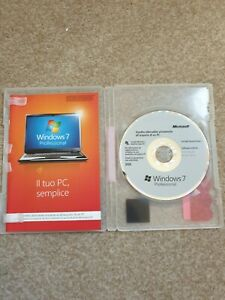 Windows 7 Professional 64-bit installation disk with case (x17-05267-02) Italy?