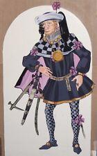 Vintage avant garde costume design gouache/collage painting