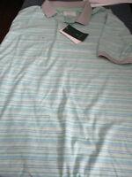 NWT LINKSOUL John Ashworth Men's STYLE LS168  Polo shirt aloe large