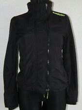 Superdry womens long sleeve black parkas jacket size XS