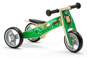 Nicko NIC813 Monkey Mini Convertible Wooden Balance Bike Toddler Trike 18m+