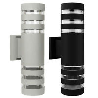 Outdoor Exterior Cylinder LED Wall Light Waterproof Dual UP Down Sconce Lamp