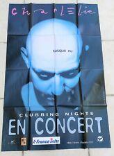 """CHARLELIE COUTURE - """" CASQUE NU """" Affiche officielle concert - 1997 - Rock"""