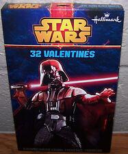 Valentines Day Cards (Box of 32) Hallmark Star Wars with Sticker Sheet