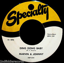 MARVIN & JOHNNY-Ding Dong Baby-N Mint Doo Wop-Northern Soul 45-SPECIALTY #SP-554