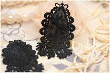 Coppia macramè per orecchini colore nero 5*8cm * macramé lace