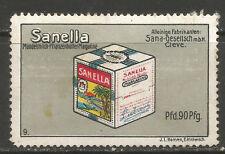 Germany/Cleve/Kleve SANELLA advertising stamp/label