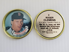 Mint #8 Roger Clemens 1987 Topps Coins Boston Red Sox