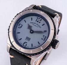 Armand Nicolet Automatik Automatic Uhr Saphirglas SWISS MADE Lederband schwarz