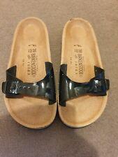 New Ladies Birkenstock Sandals Size 6(39). Black Patent Colour.