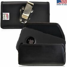 iPhone 4S Leather Cell Phone Pouch Holster Case with Metal Belt Clip