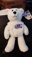 "Limited Treasures RANDY MOSS White QB Chase Bear 9"" bean bag-1998-New-w/tags"