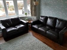 Brown Leather Sofa 3 & 2 Seater