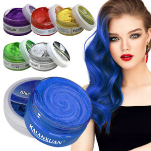 Unisex DIY Hair Color Wax Mud Dye Cream Temporary Painting Modeling 9 Colors