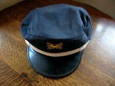 Vintage Adult M Hat Adult Yacht Sailor Captain Costume Accessory Visor Cap as is