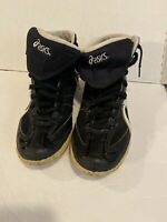 Asics Fuerte Black and White Athletic Wrestling Shoes JY503 Men's Size 9.5