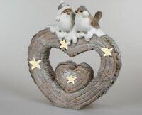 formano Windlicht Vögel auf Herz 45 x 50 cm Winter Weihnachten 745675