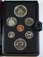 1976 Canada Prooflike Set 7 Beautiful GEM Coins In Presentation Case W/ the COA