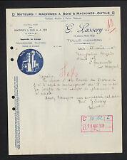 """TULLE (19) MOTEURS / MACHINES à BOIS / MACHINES-OUTILS """"G. LASSERY"""" en 1929"""