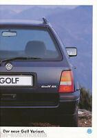 VW Golf Variant Prospekt 1994 1 94 brochure Autoprospekt Auto PKWs Deutschland