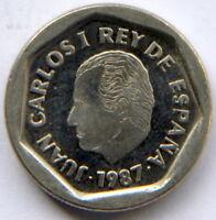 JUAN CARLOS I 200 PESETAS 1987 KM-829 (CARTUCHO/MINT ROLL)