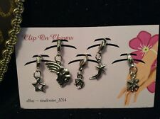 Clip on Charms - x5 In The Sky Theme - (Rainbow, Snowflake, Moon & Stars)