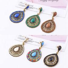 Multi Color Rose Flower Round Droplet Ladies Women Stud Earrings Wholesale~-