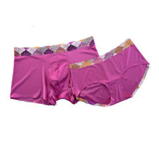 Seamless Ice Silk Boxers Trunks Couple Soft Smooth Matching Underwear Underpants
