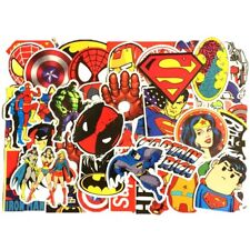 50 pcs/set  Marvel DC Super Hero Stickers Batman Iron Joker Superman Captain