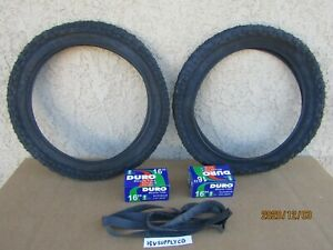 NEW  16'' x 2.125 BLACK BICYCLE TIRES , TUBES & LINERS FOR KID BIKES, STROLLER