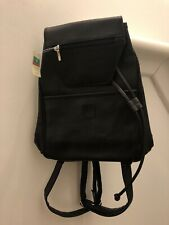 Small Black Leather Backpack BNWT