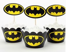 Cupcake Cup Cake Decorating,Toppers Wrappers PARTY DECORATION, Batman