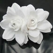 New Summer Bridal Wedding Orchid Flower Hair Clip Barrette Women Accessories 1PC