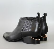 NEW ALEXANDER WANG Kori Cut Out Heel Ankle Bootie Shoe, EUR 39.5, Black Leather