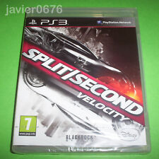 SPLIT SECOND VELOCITY NUEVO Y PRECINTADO PAL ESPAÑA PLAYSTATION 3 PS3