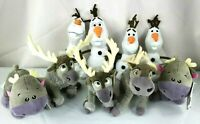 "Disney Lot of 9 FROZEN Olaf 8"" Sven Plush Stuffed Animal Reindeer Snowman Toy"