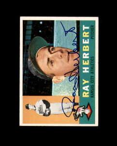 Ray Herbert Hand Signed 1960 Topps Kansas City Athletics Autograph