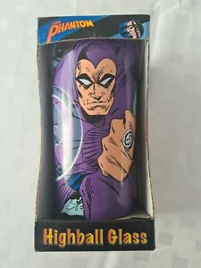 """The Phantom High Ball Glass """"The Ghost Who Walks"""" Still in Packaging 2007"""