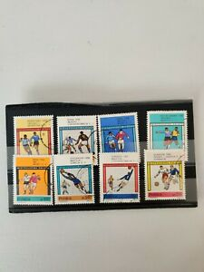 Set Of 8 Polish Stamps For 1966  Football World Cup In England Poland