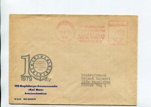 DDR Brief Absenderfreistempel Magdeburg 21.3.83 VEB Magdeburger Armaturenwerke