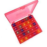 Spulenbox gefüllt mit 25  Spulen Nähmaschinenspulen für Privileg, AEG