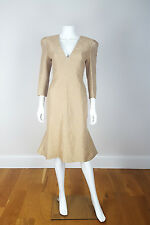 *ALEXANDER MCQUEEN* FITTED FISH TAIL GOLD DRESS (42)